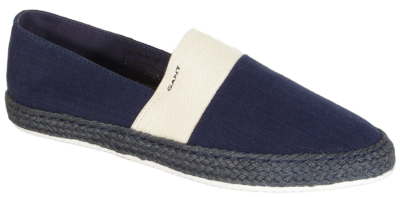 Gant Krista slip on wash. linnen + cotton marine