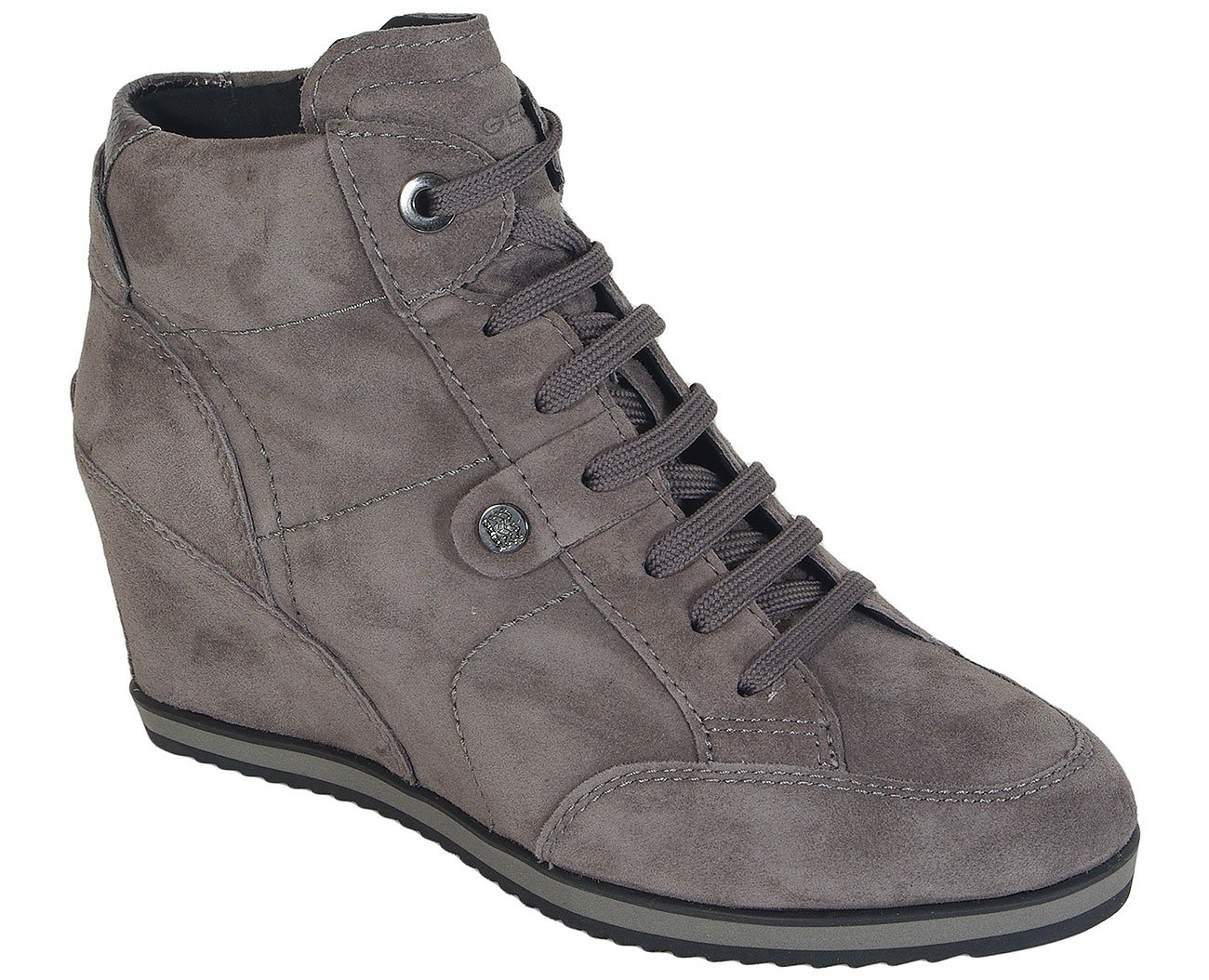 GEOX Illusion A Goat.Suede Dk Grey sneakers