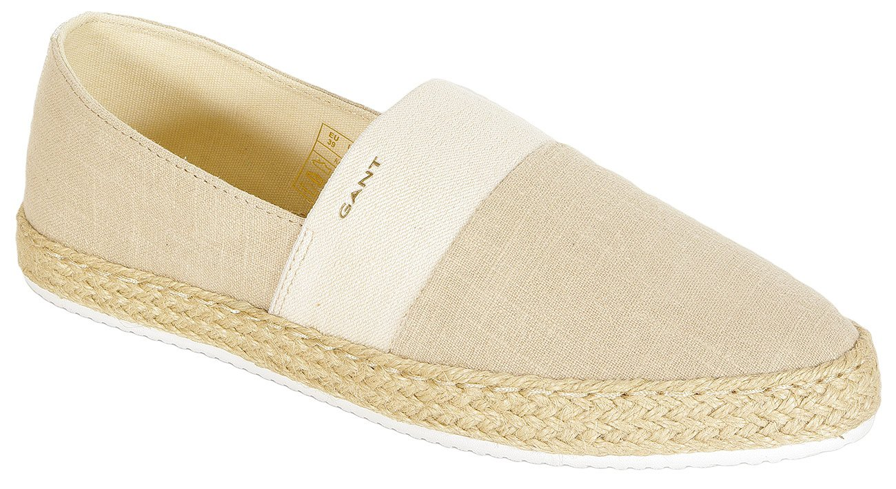 Gant Krista slip on wash. linnen + cotton natural