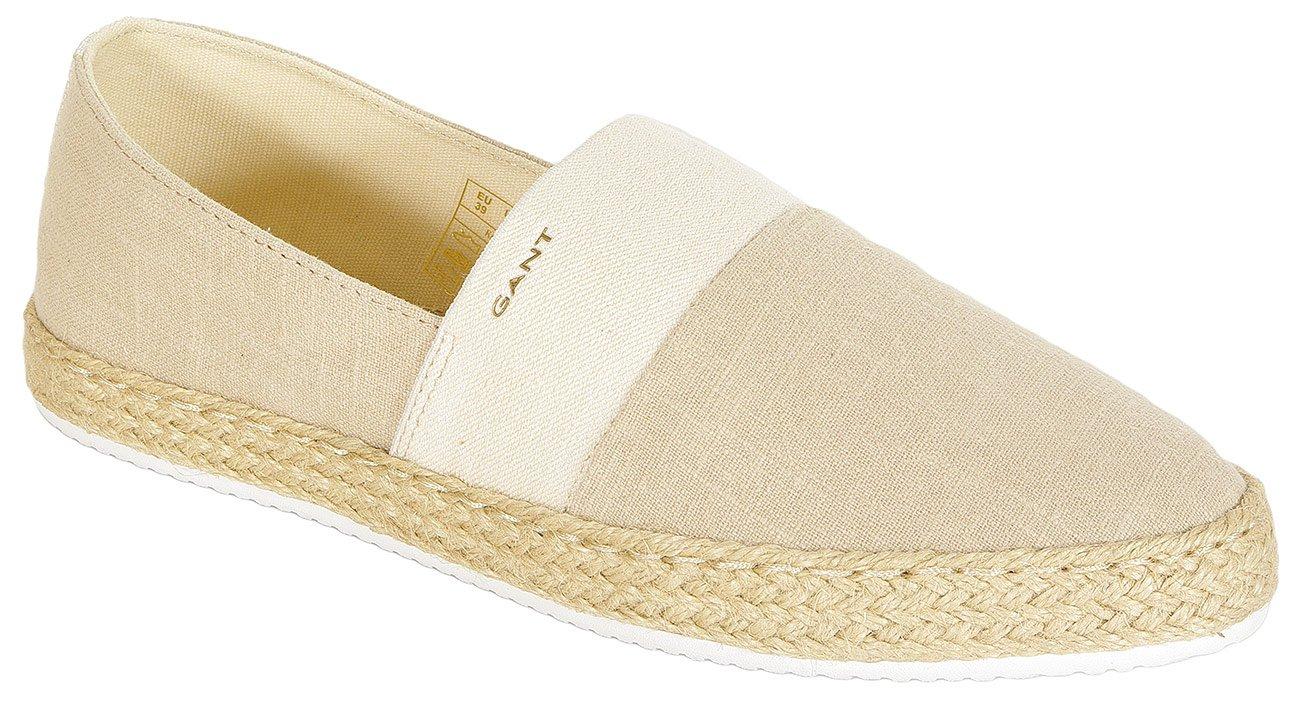 Gant Krista slip on wash. linnen + cotton natural