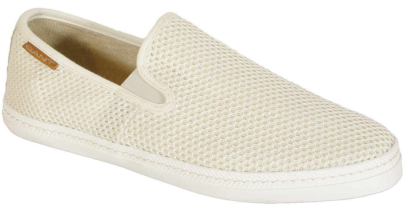Gant Frank slip on cotton mesh beige