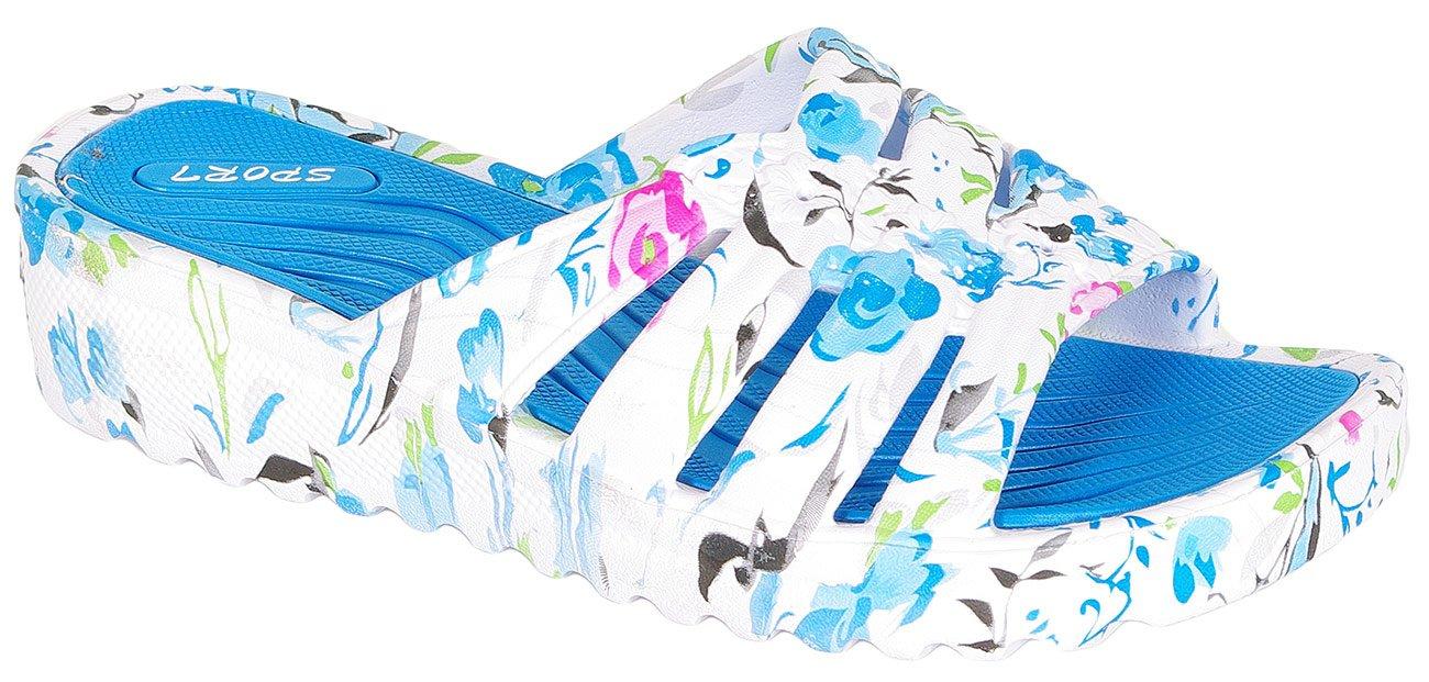 Via Promoda 8733 klapki biały/niebieski