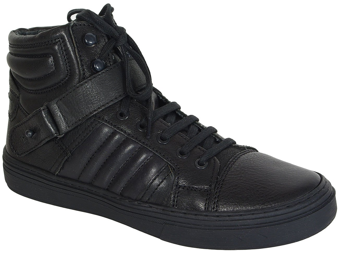 CANGURO BY FREEMOOD A015 VACCHETTA DELAVE'-TE NERO SNEAKERS