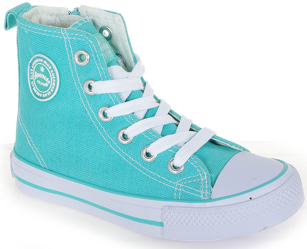 AMERICAN CLUB CONVE HIGH ZIP 2731 TURQUOISE SNEAKERS