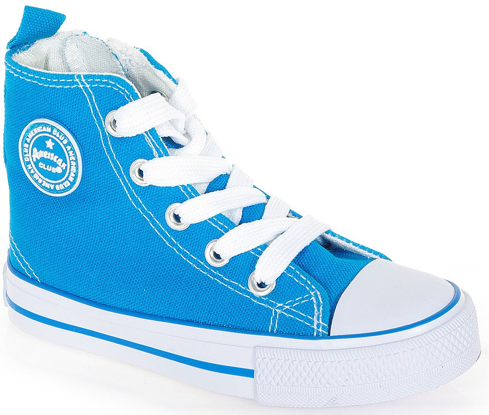 AMERICAN CLUB CONVE HIGH ZIP 2731 BLUE SNEAKERS