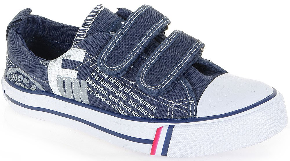 AMERICAN CLUB FUN NAVY SNEAKERS