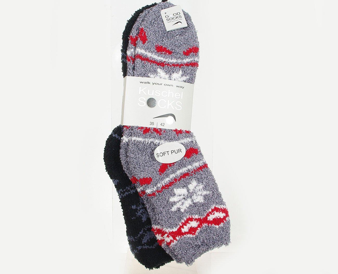 Good Socks Kuschel Soocks 375907 Grey/Black skarpety