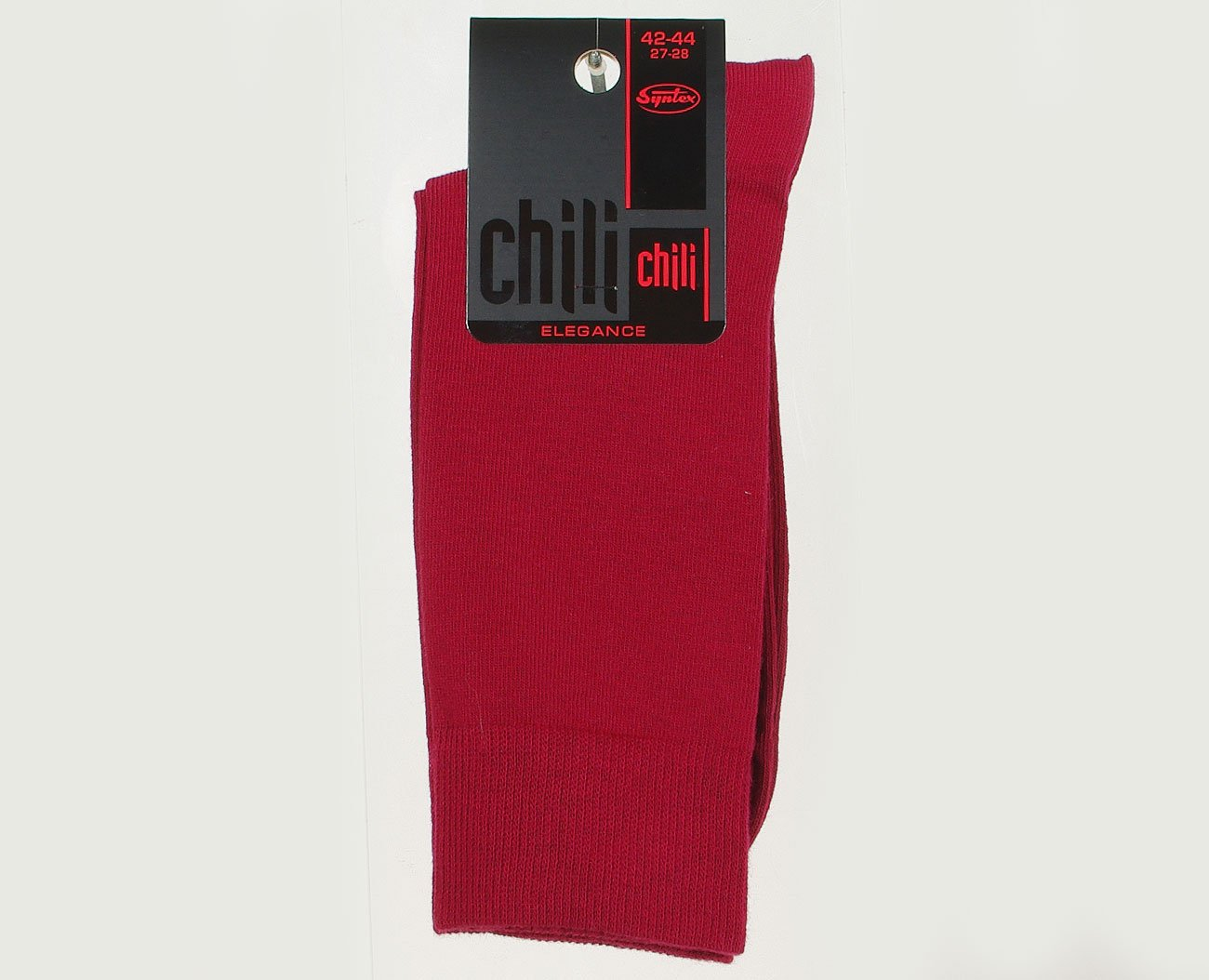 Chili Elegance Gładkie skarpety męskie bordo