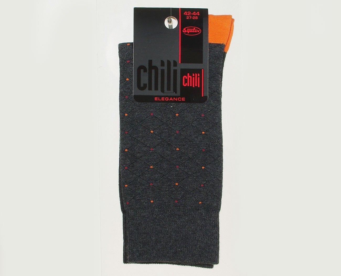 Chili Elegance Siatka skarpety męskie grey/orange