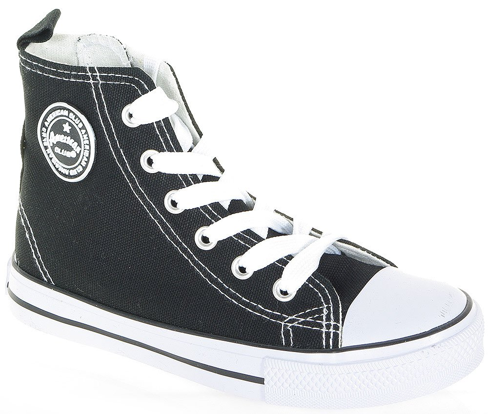 AMERICAN CLUB CONVE HIGH ZIP 3236 BLACK SNEAKERS