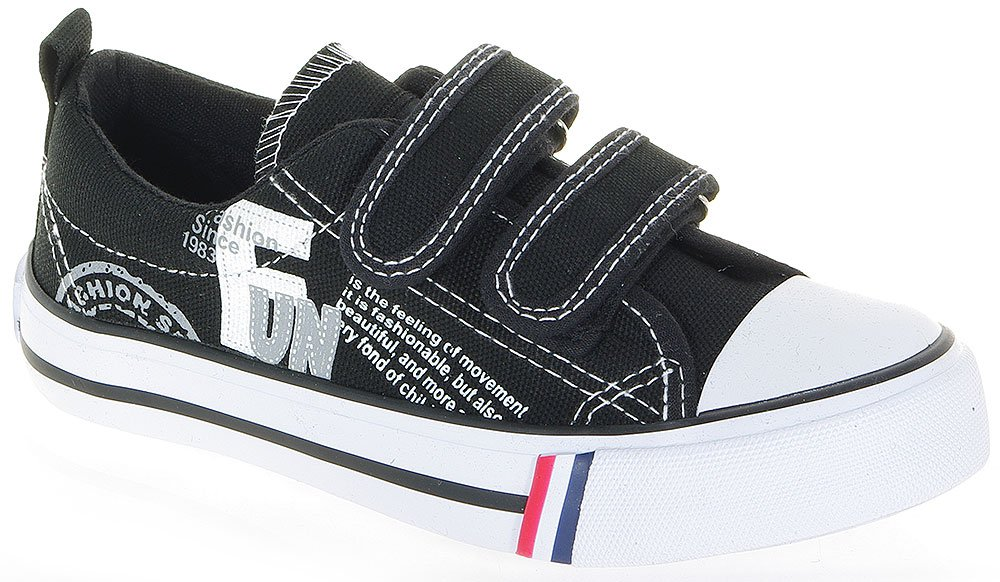 AMERICAN CLUB FUN BLACK SNEAKERS