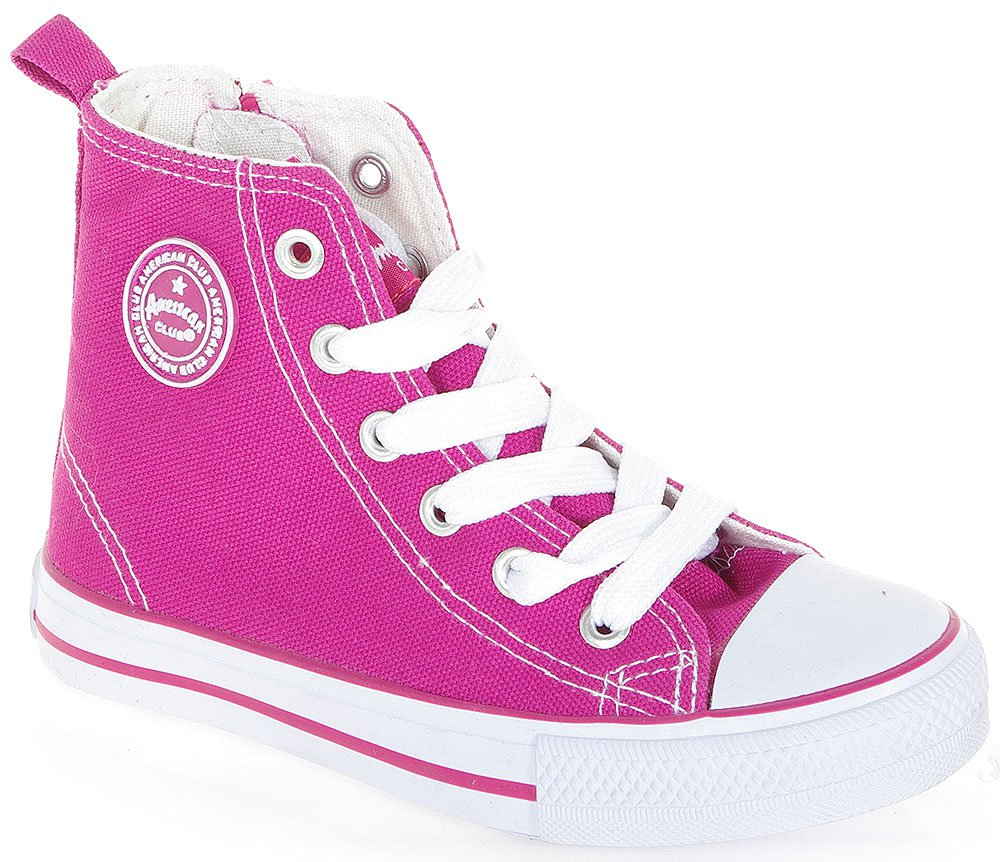 AMERICAN CLUB CONVE HIGH ZIP 2731 FUCHSIA SNEAKERS