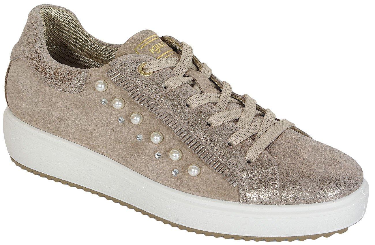 igi&co Athena Scamoscio Metal Taupe sneakers