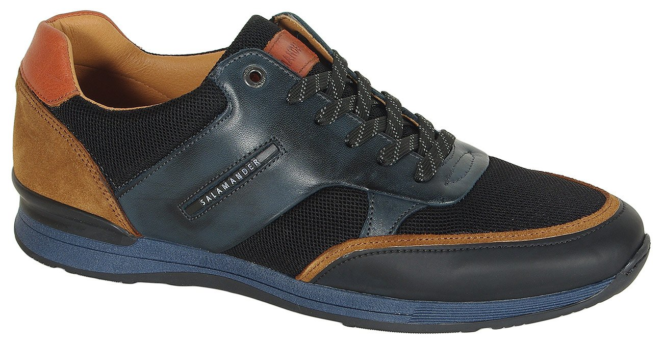 Salamander Avato sneakers nappa navy/black/brown