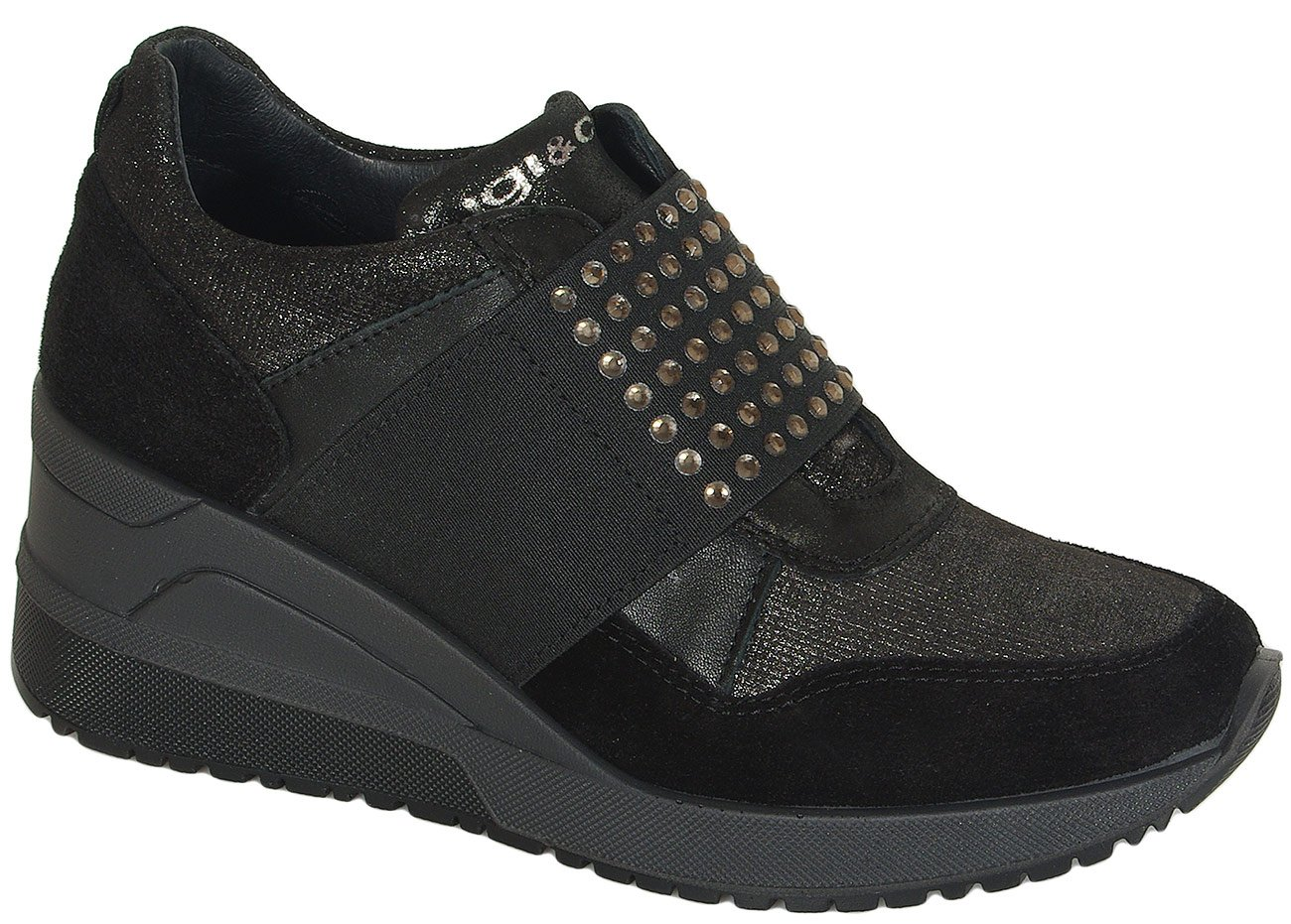 igi&co 41430 sneakers scamisciato nero