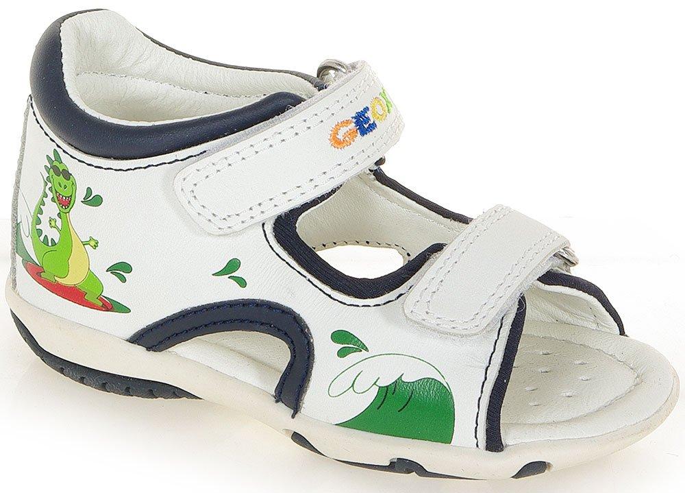 GEOX ELBA A sandały WHITE/NAVY