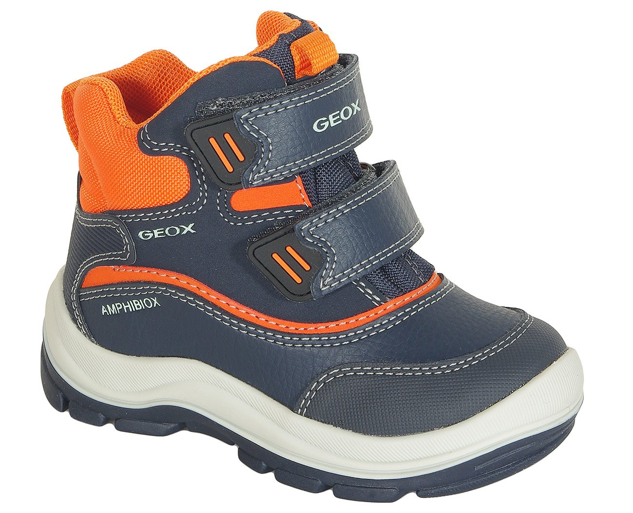 Geox Flanfil B trzewiki Abx boy navy/orange