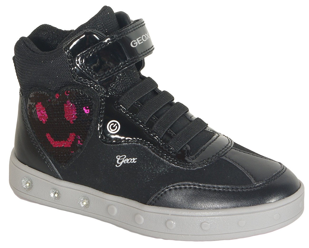 Geox Skylin sneakers girl black/fuchsia
