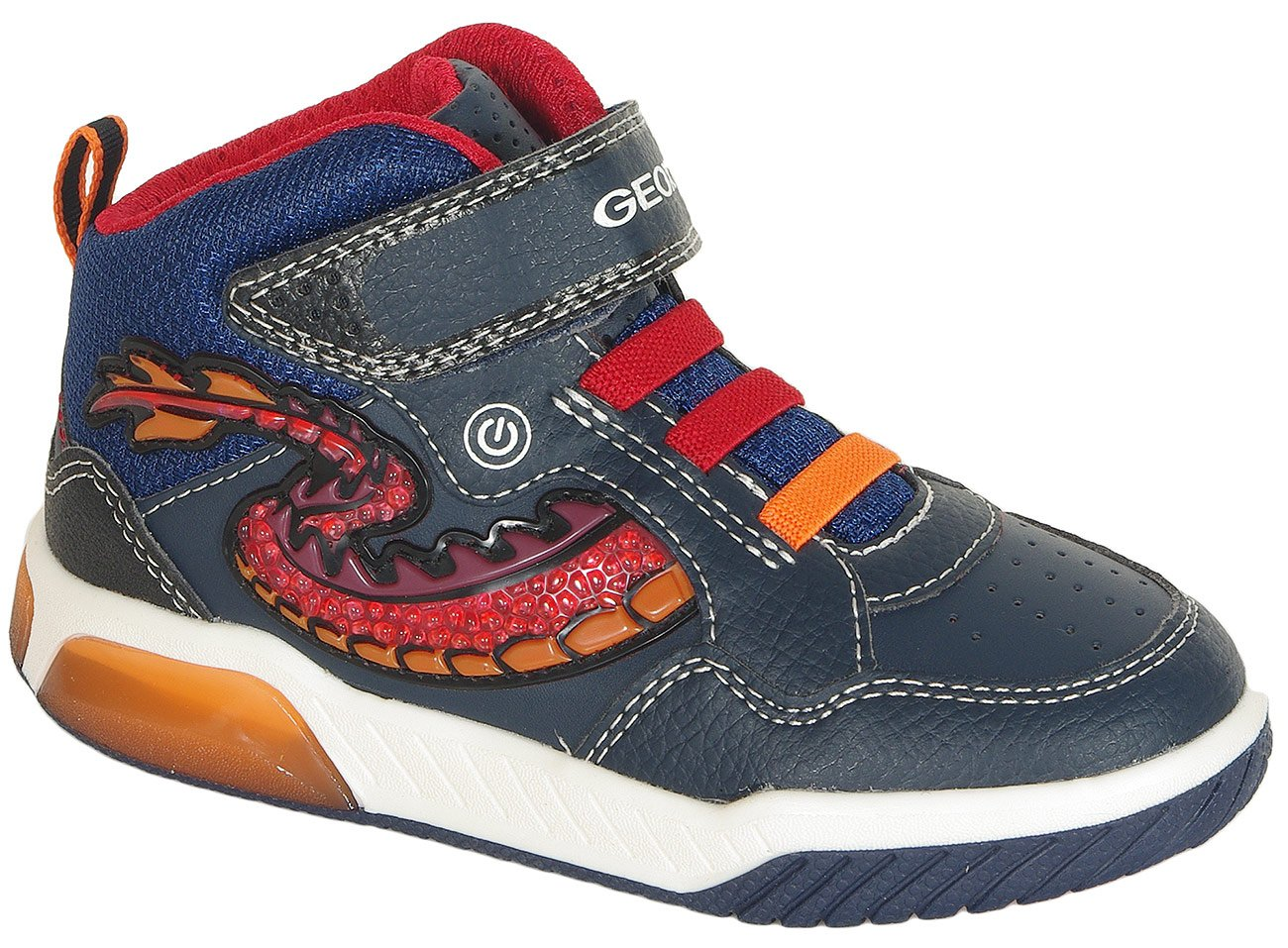 Geox Inek B sneakers boy geobuck navy/red