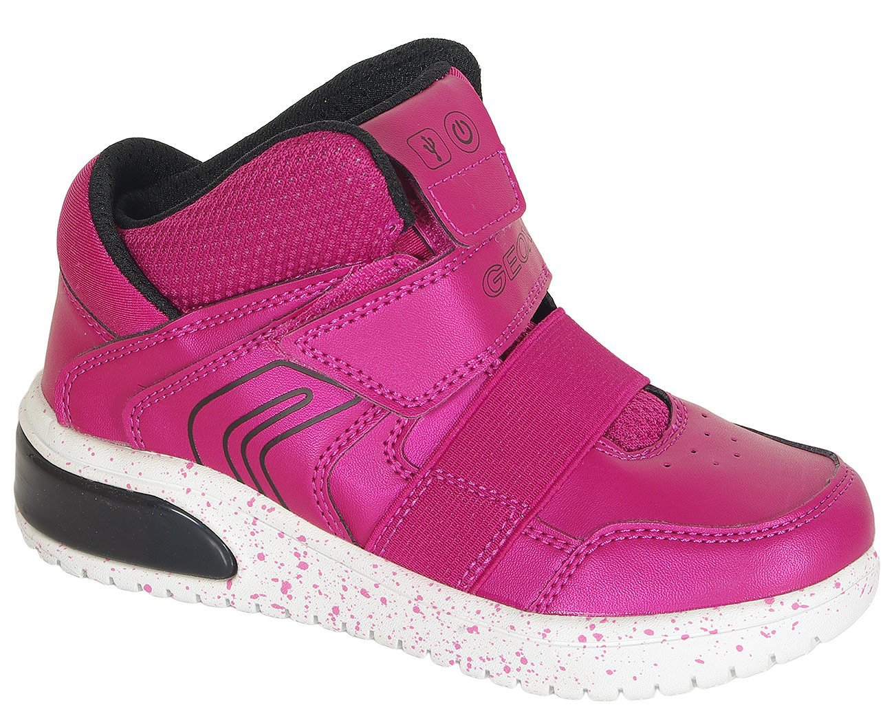 Geox Xled A sneakers girl synthetic/textile fuchsia/black