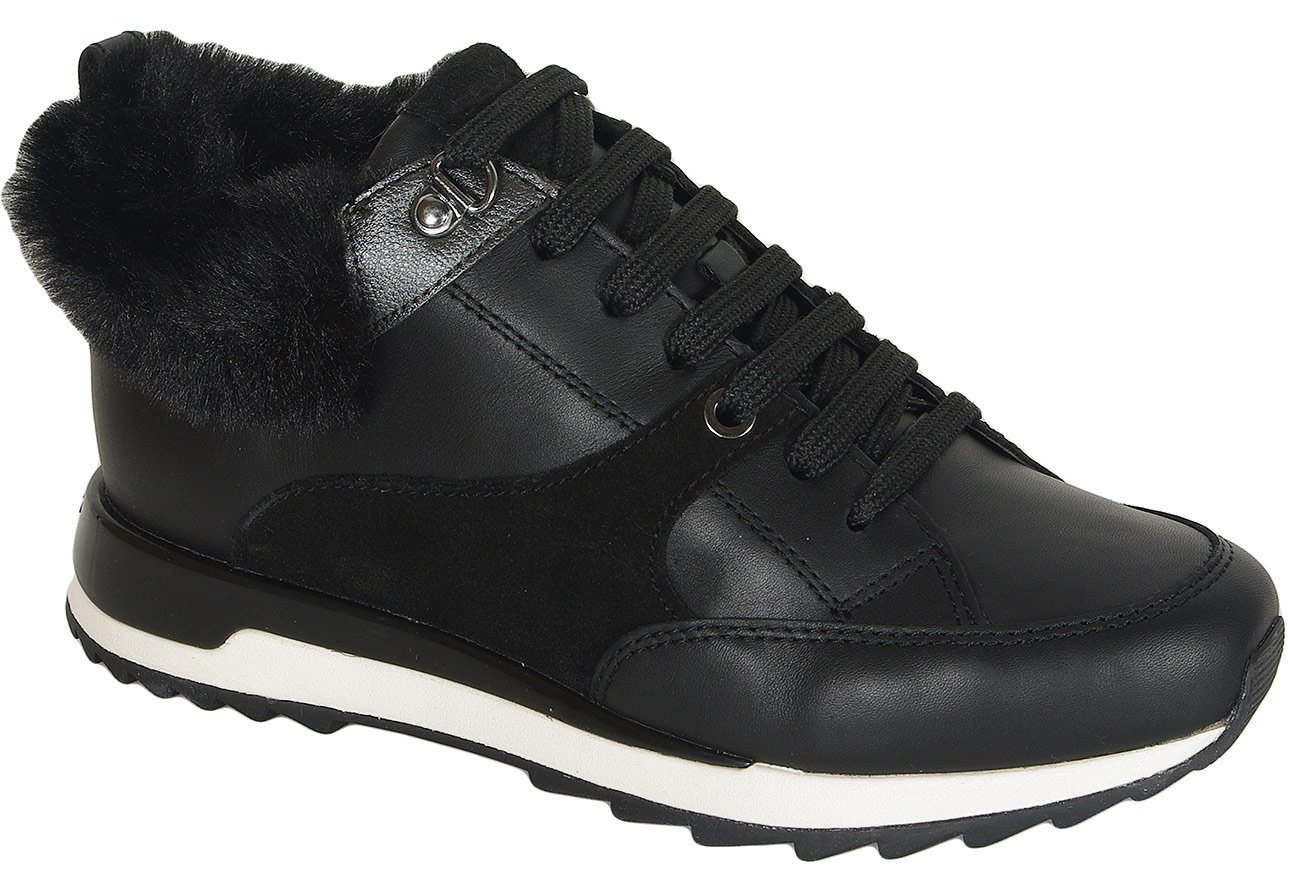 Geox Aneko B sneakers ABX nappa/suede blackcasual sport