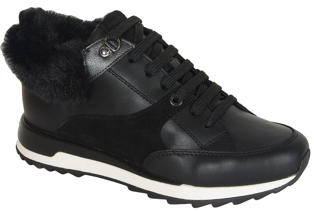 Geox Aneko B sneakers ABX nappa/suede blackcasual sport