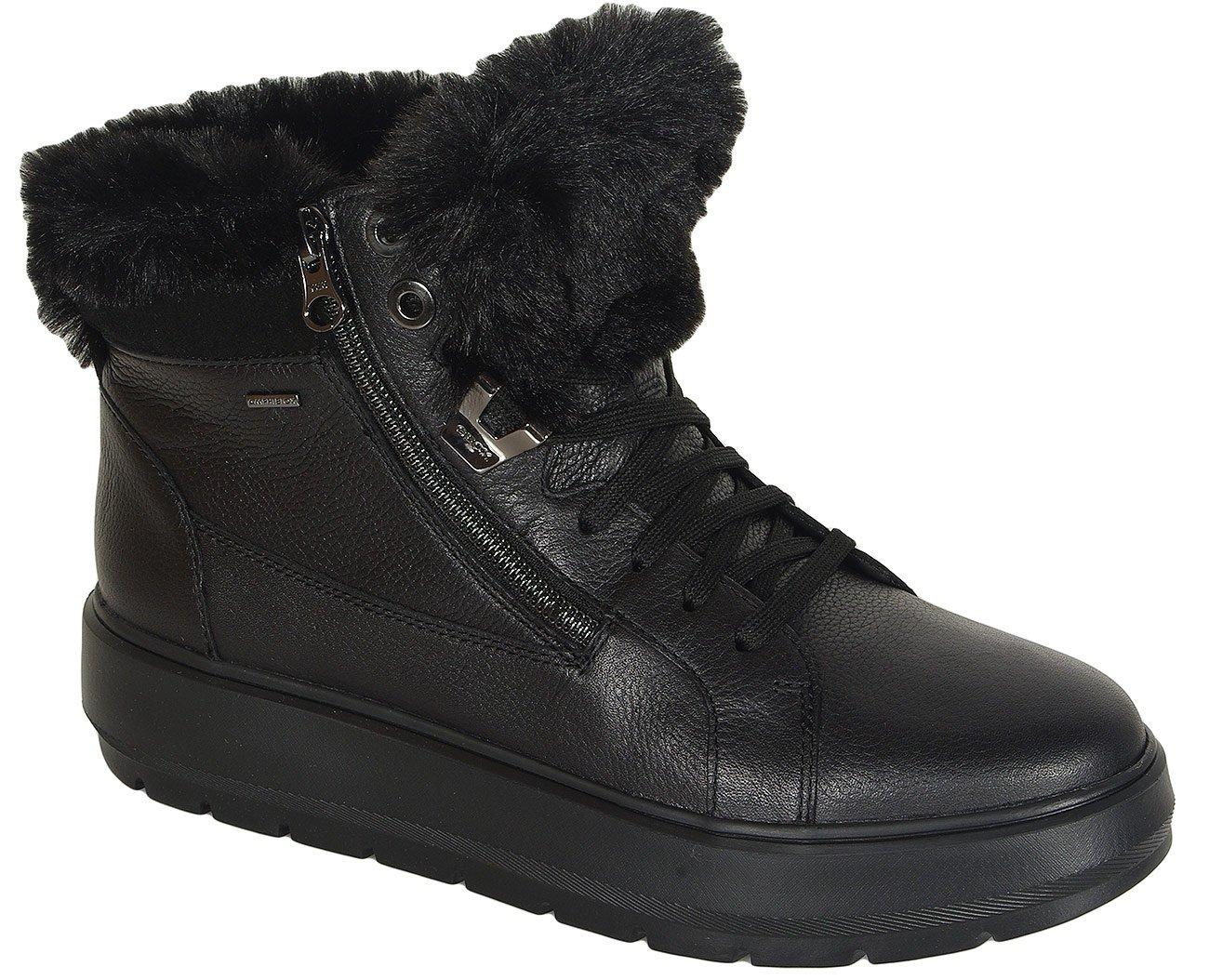 Geox Kaula B sneakers ABX leather black