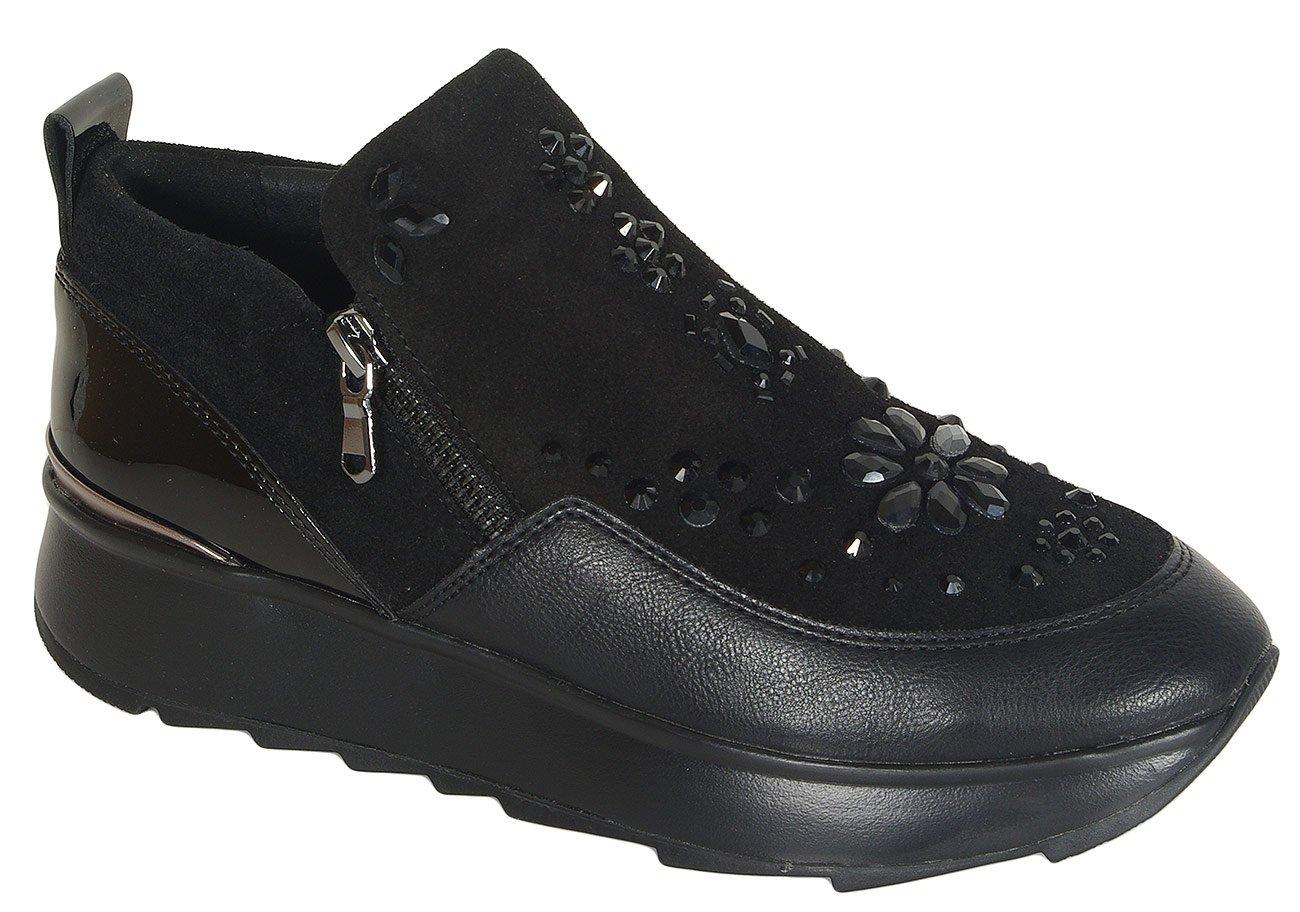 Geox Gendry C sneakers suede/geobuck black Casual Sport