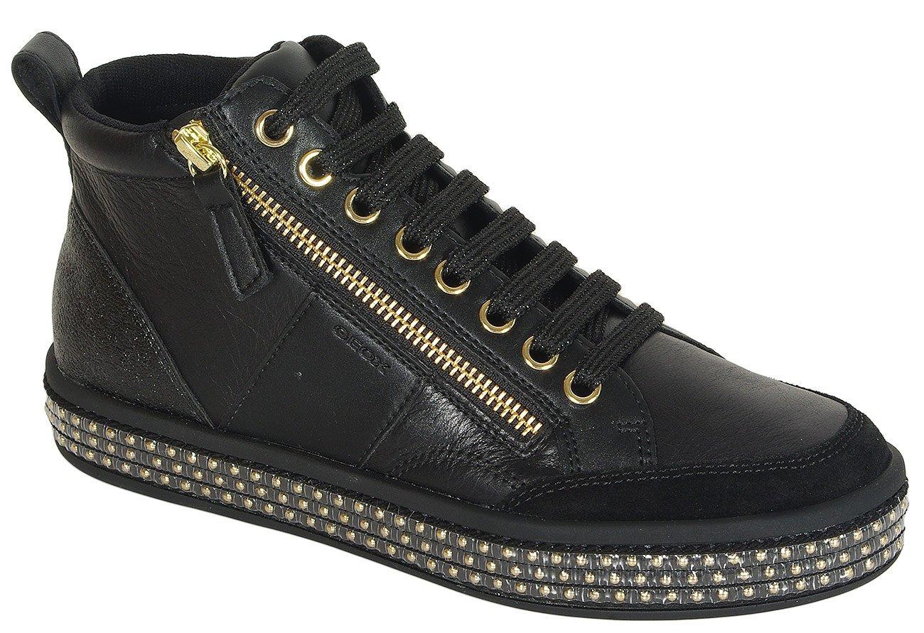 Geox Leelu G sneakers nappa/geobuck black Casual Sport