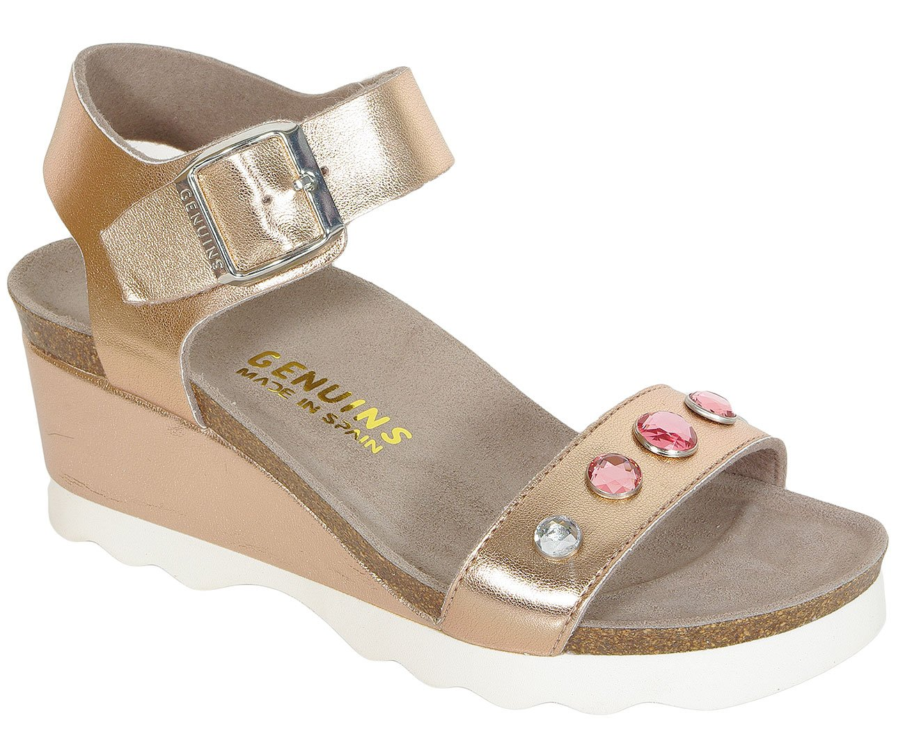 Genuins Columbia Lame Nude sandały