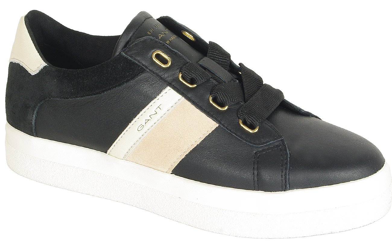 Gant Aurora sneakers leather+silky suede black