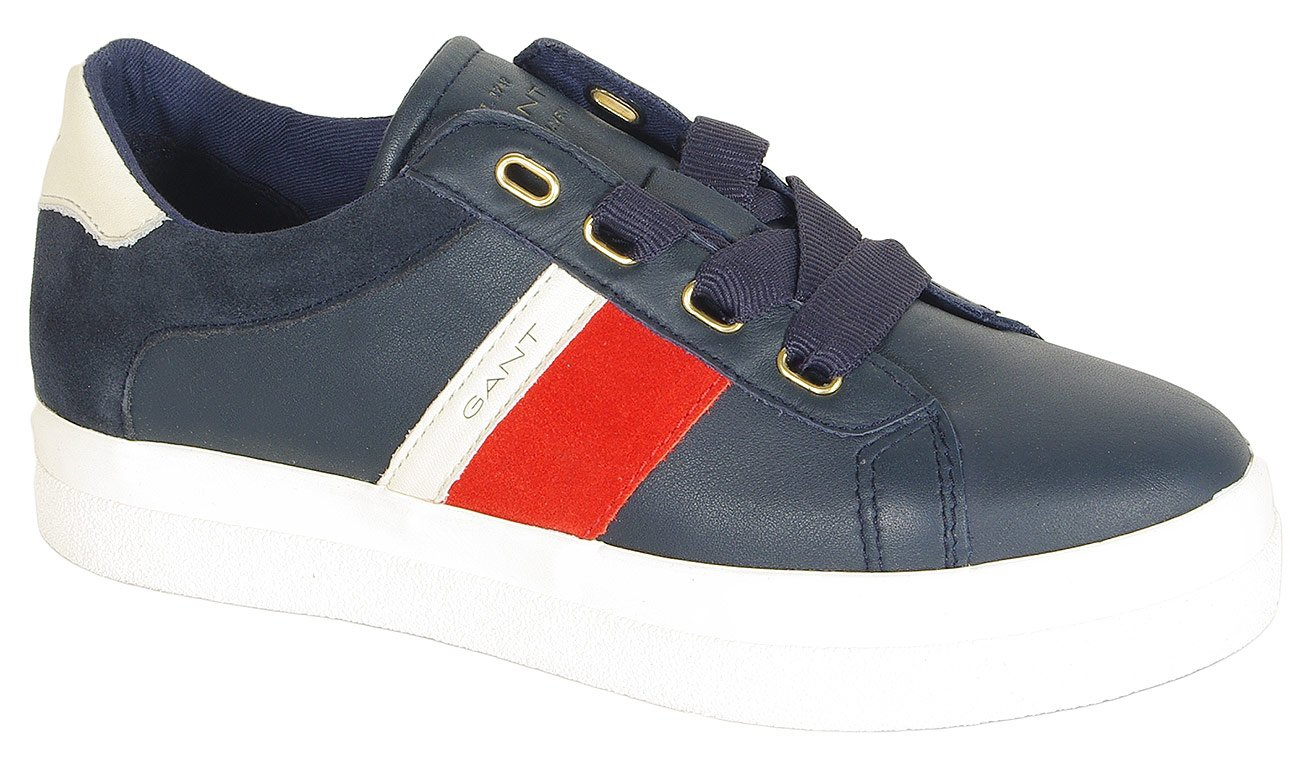 Gant Aurora sneakers leather+silky suede marine