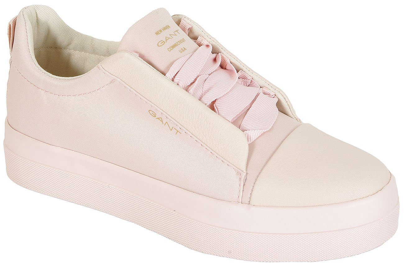 Gant Amanda Satin+Leather sneakers silver pink