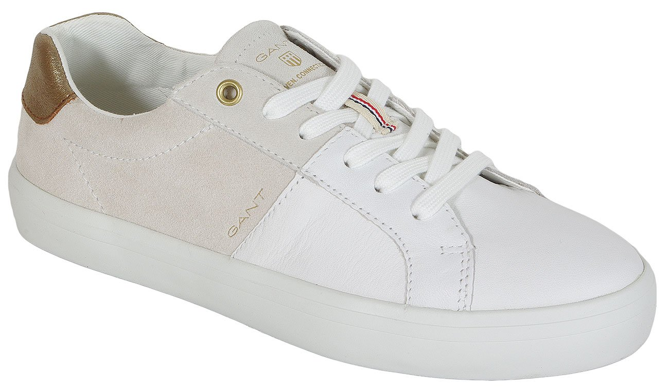 Gant Mary Leather+Suede sneakers bright wht./cream