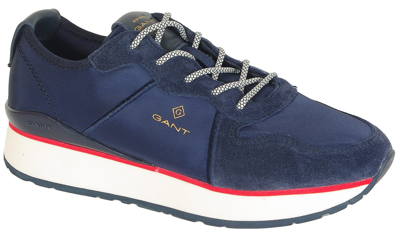 Gant Linda sneakers satin+suede marine