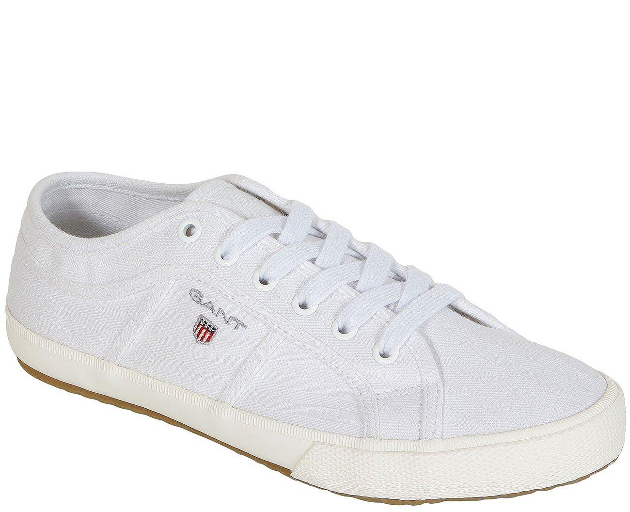 Gant Samuel Herringbone white sneakers