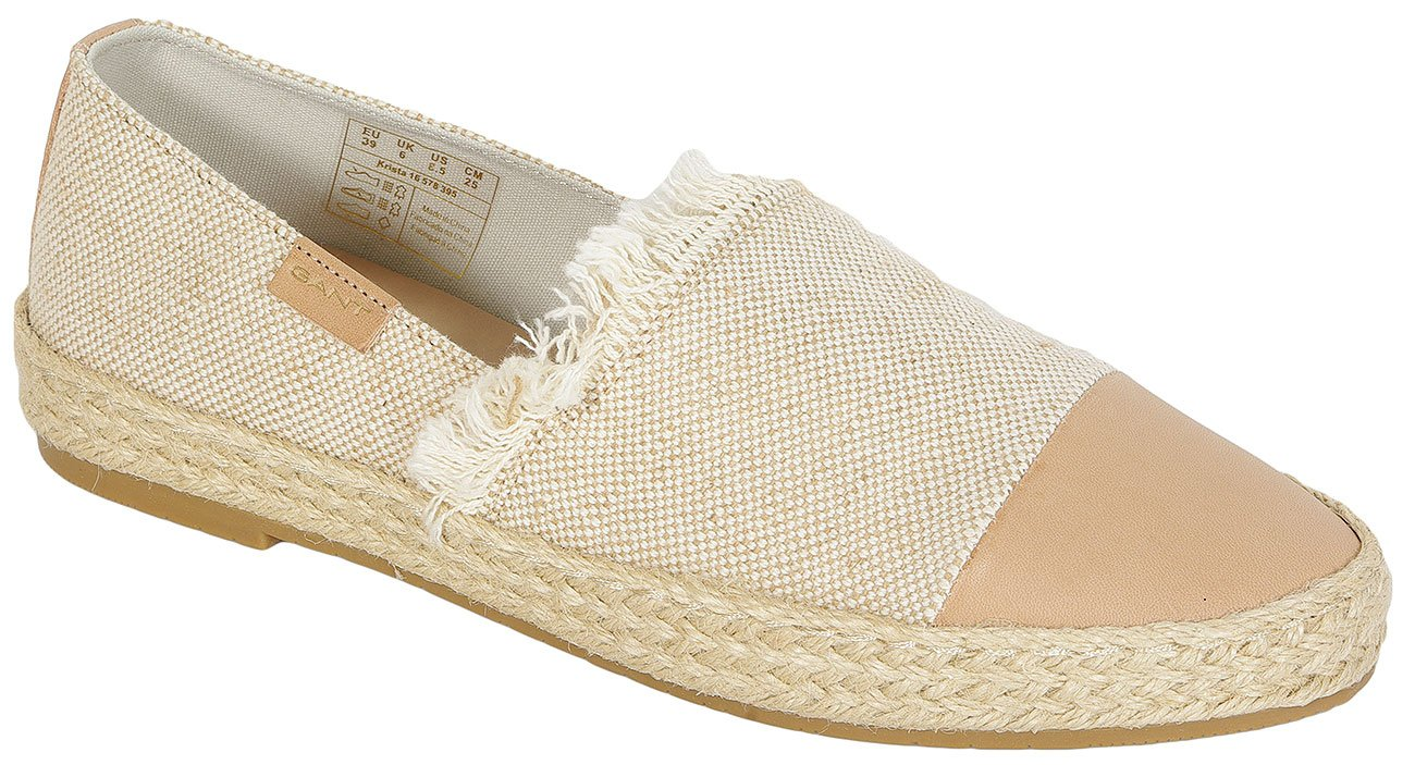 Gant Krista Leather+Canvas slip on putty cream