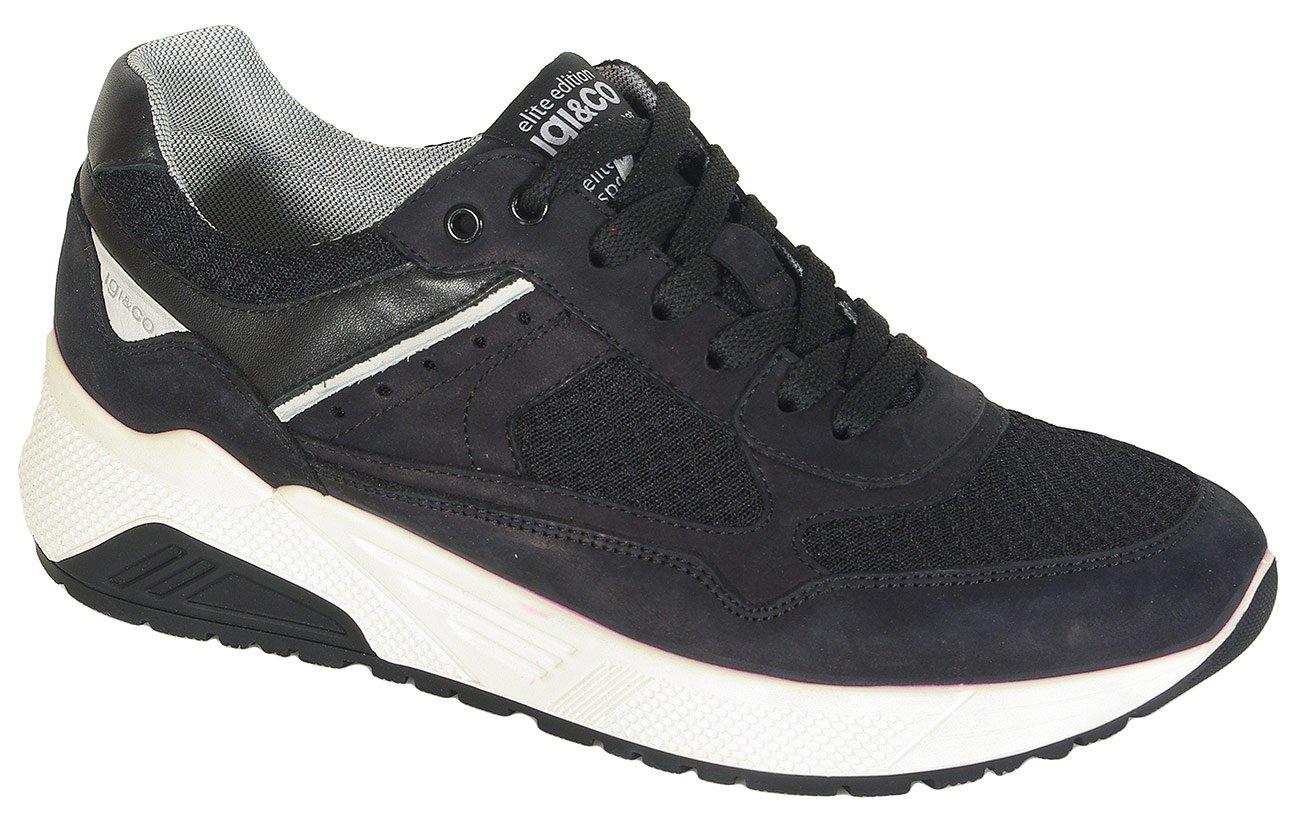 igi&co 312922 sneakers nabuk nero