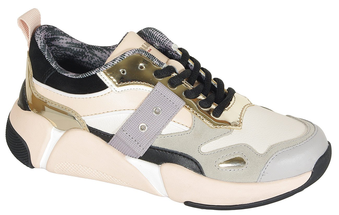 Blauer. USA Monroe01 sneakers nude/gold