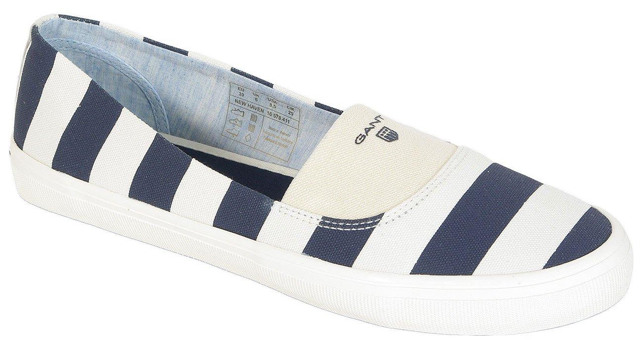 Gant New Haven Canvas sneakers cream/marine