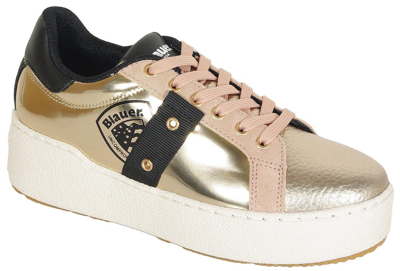 Blauer. USA Madeline02 sneakers lam platinum