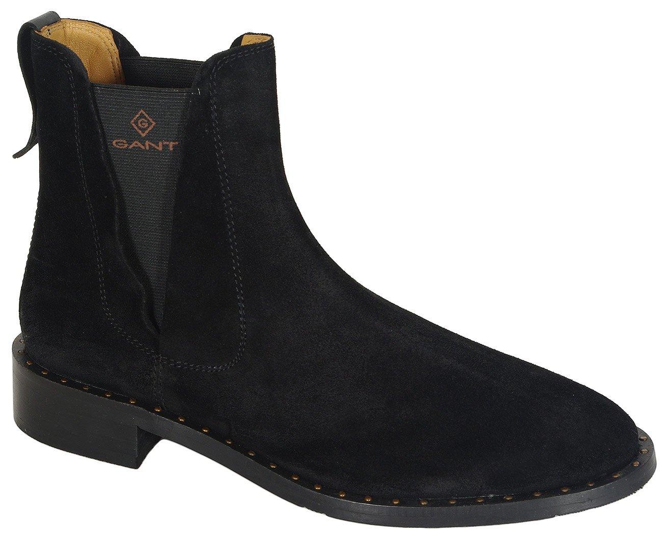 Gant Hampton botki suede+nylon black
