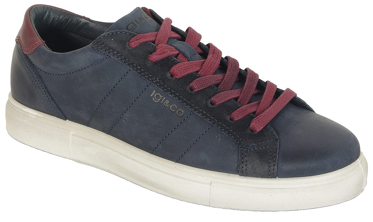 igi&co 41268 sneakers nabuk soft oil notte