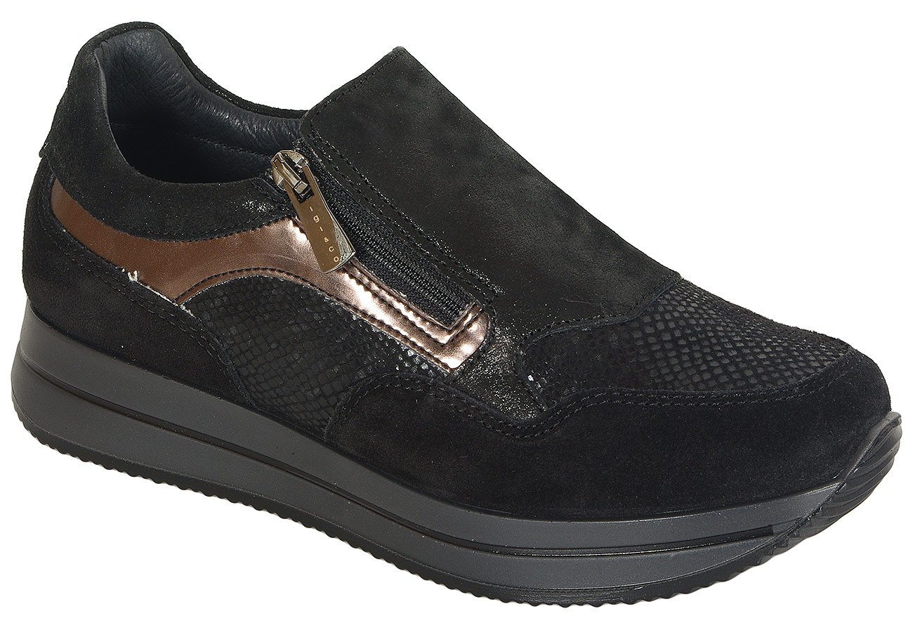 igi&co 41449 sneakers capra nero