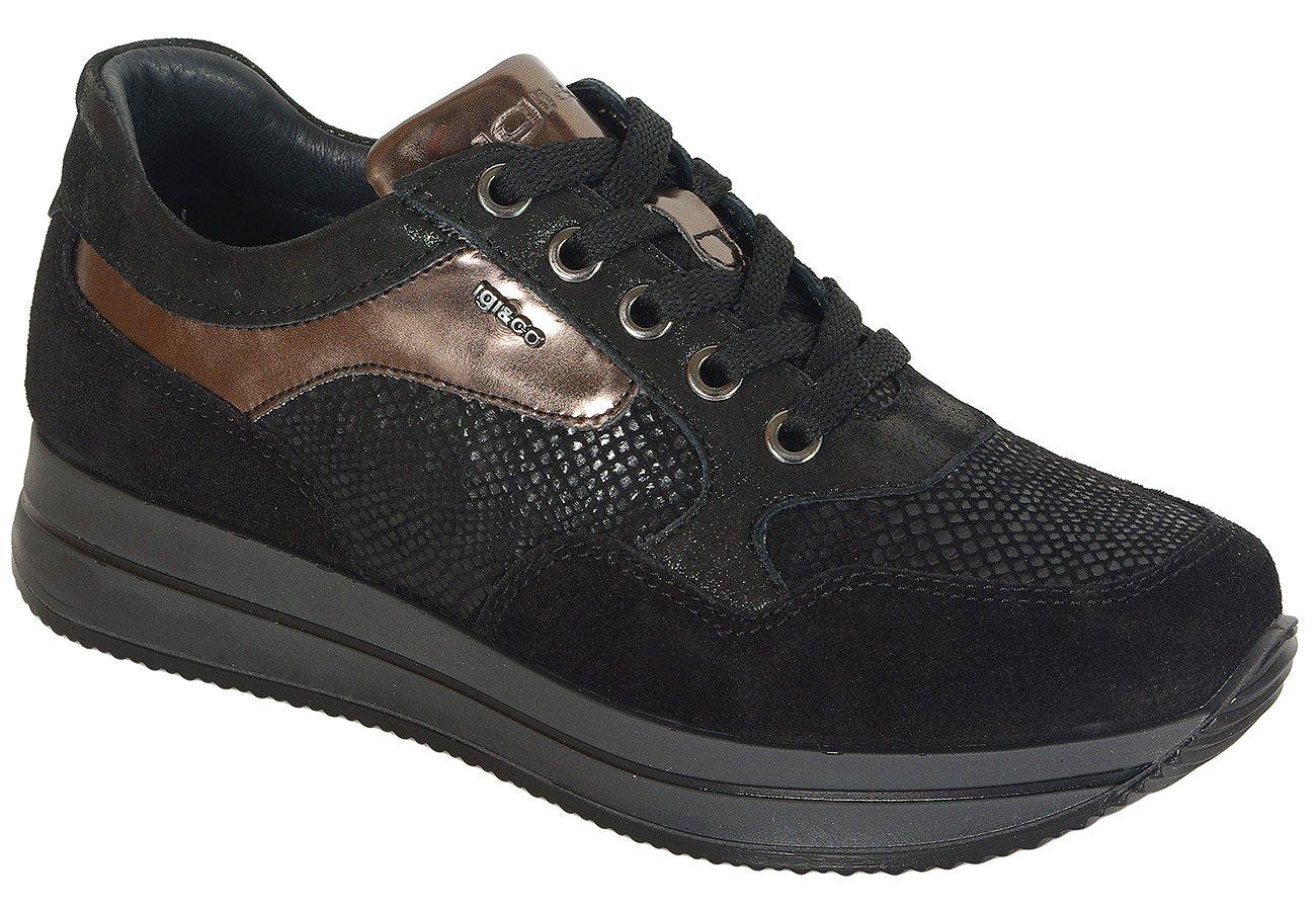 igi&co 41450 sneakers scamosciato nero