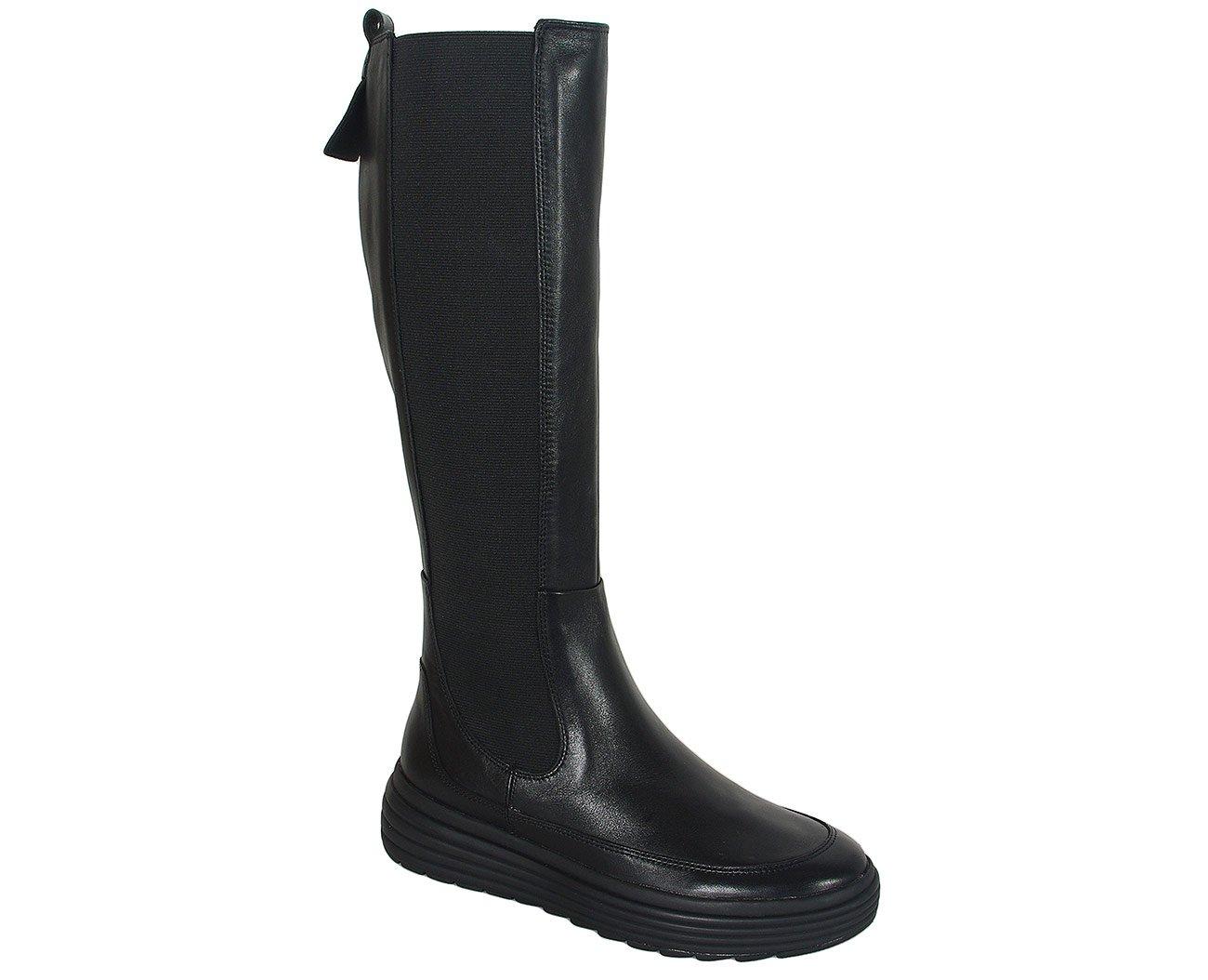 Geox Phaolae F kozaki nappa black boots casual sport