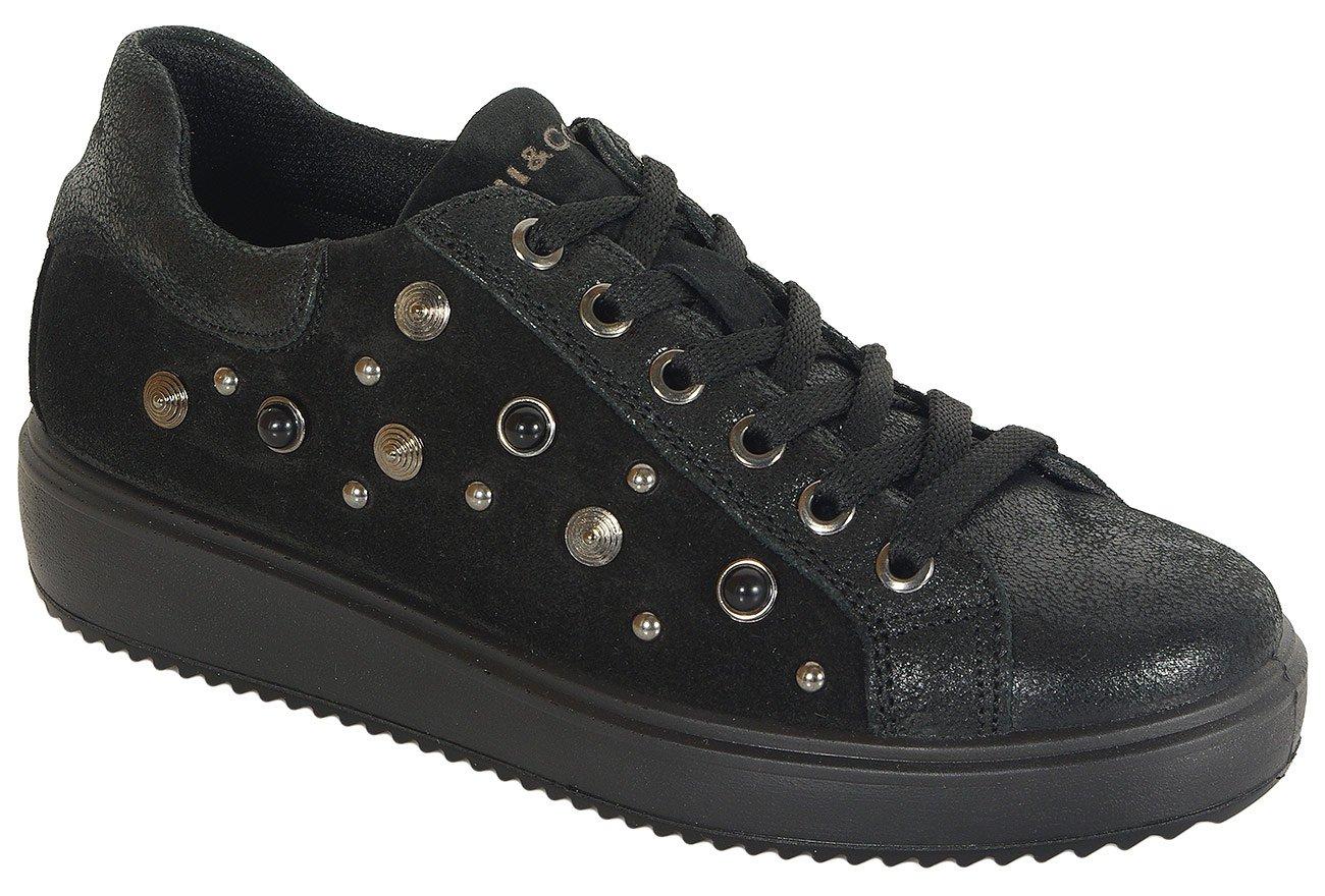 igi&co 41507 sneakers scamosciato nero