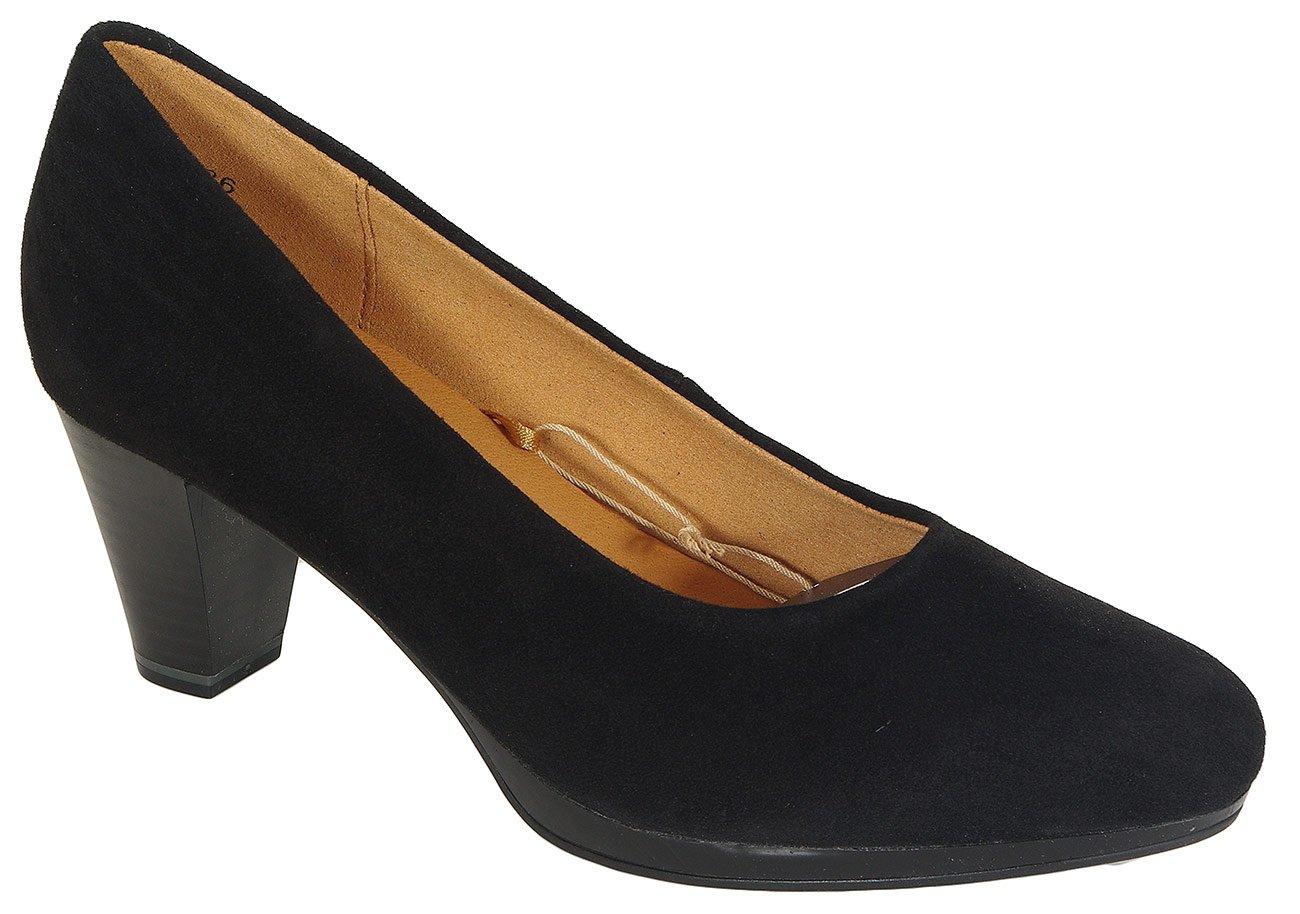 Caprice 22409 czółenka black suede