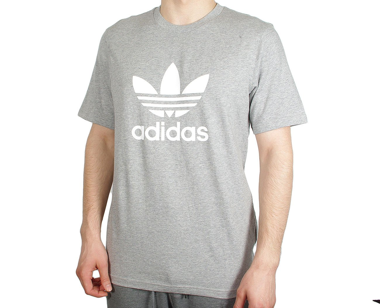 Adidas Trefoil T-Shirt Medium Grey Heather