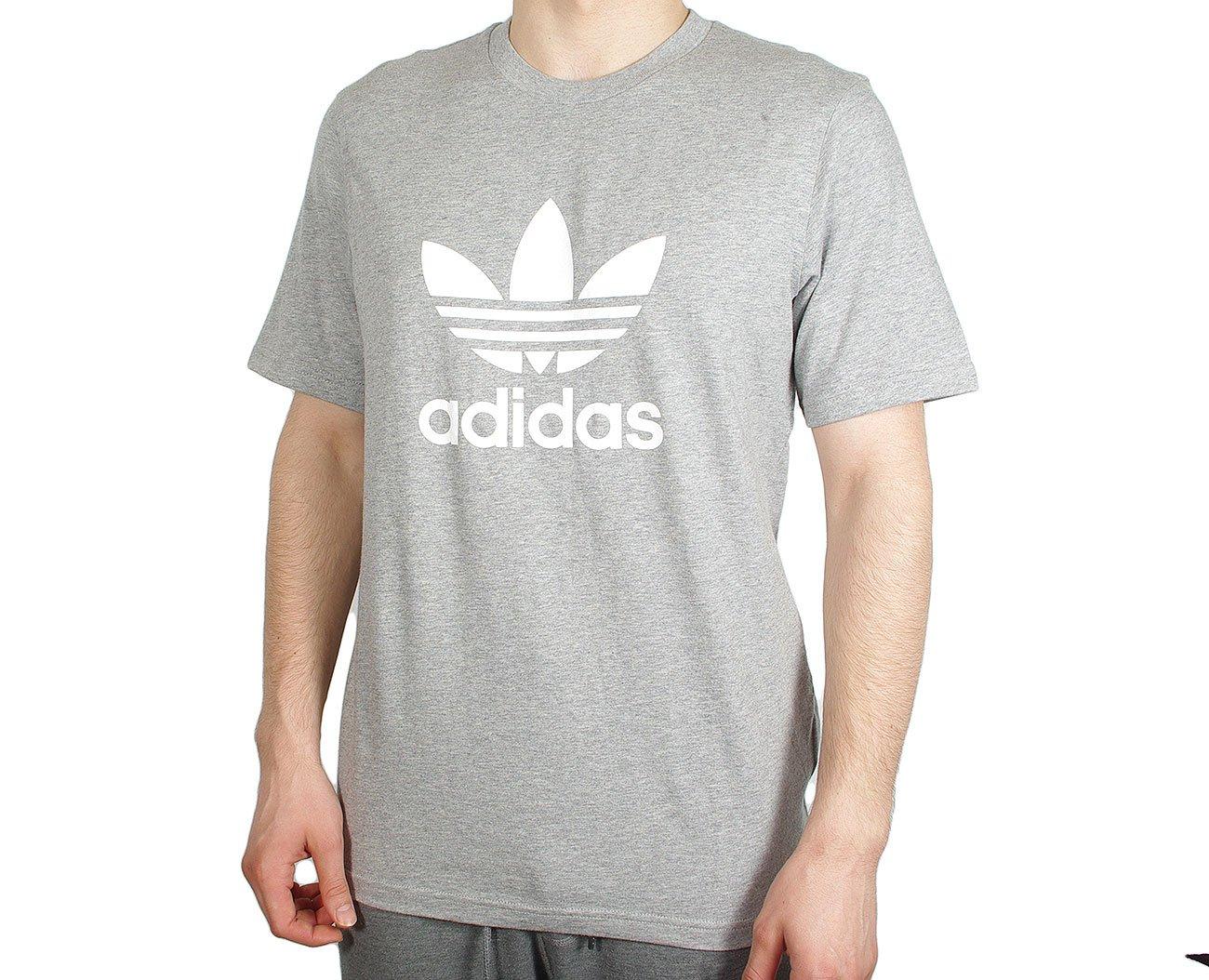 Adidas Trefoil T-Shirt Medium Grey Heather